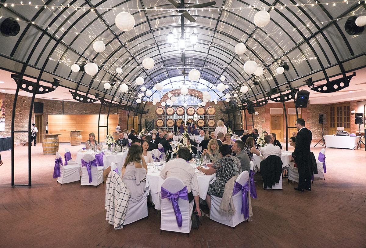 Serafino winery's reception hall