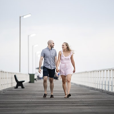 Grange Beach & Crozier st Engagement shoot