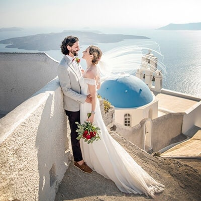 Santorini Wedding - Kerri & Tony